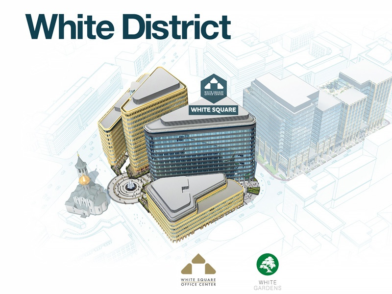 White District web design web design minimalism clean business centre building office moscow square real estate