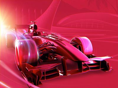 Formula 1 racing bolide car 3d racing formula 1