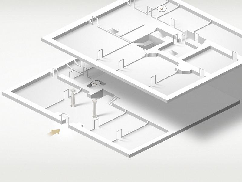 Isometric plan grayscale isometric map plan