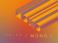 Design of the music album cover (uglan – mono)