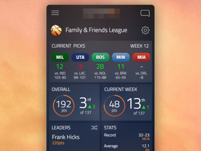 Fantasy League Dashboard