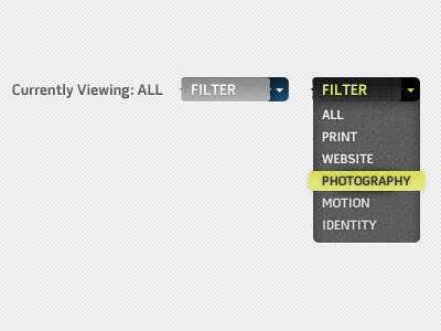 Filter filter dropdown menu hover