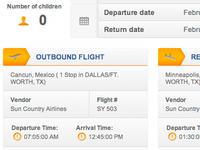 Travel Site Flight Information