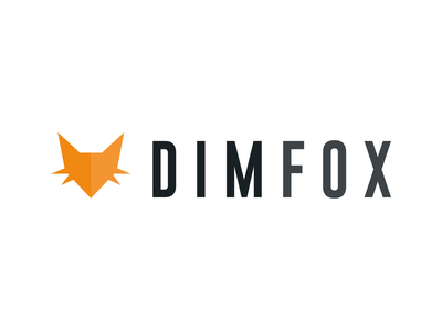 DIMFOX logo concept fox typography graphic design identity illustration branding logo design brand concept icon vector logo