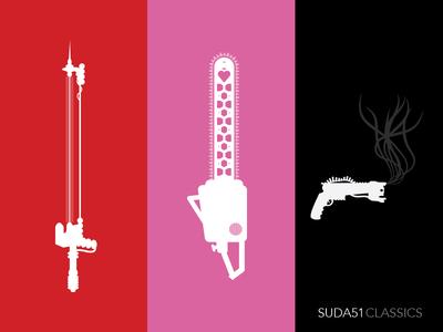 Suda51 Poster Homage Graphics