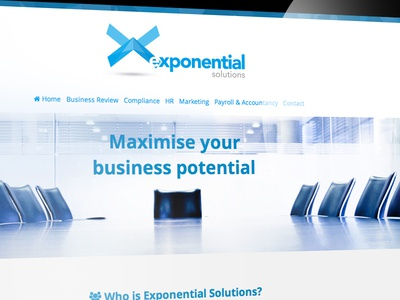 Exponential Solutions Website Design