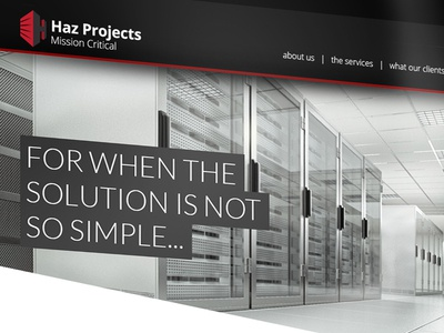 Haz Projects Website Concept