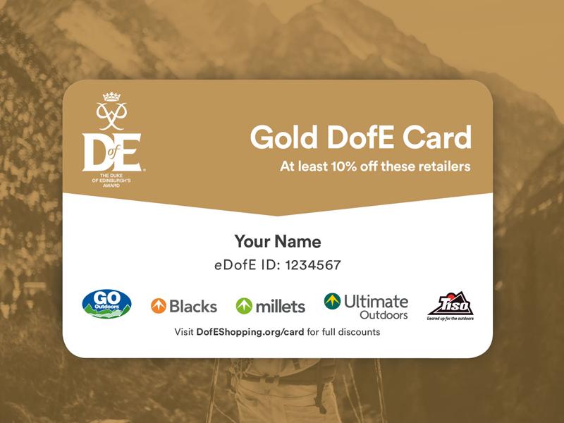 Dofe reward card gold