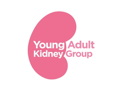 Young Adult Kidney Group Logo Concept kidney pink identity graphic design branding logo design illustration concept brand icon vector logo