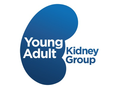 Young Adult Kidney Group Final Logo colourful icon illustration identity brand logo design charity blue kidney vector concept branding logo