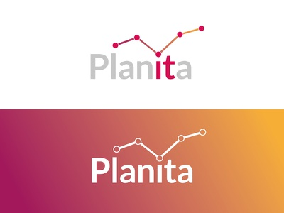 Planita Logo Concept design colourful typography graphic design identity branding logo design illustration concept brand icon vector logo