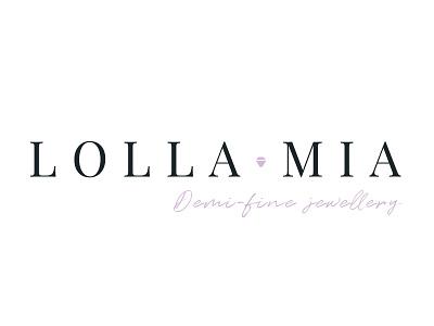 LollaMia Logo Concept design typography identity branding logo design brand concept vector logo