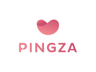 Pingza Logo wine colourful graphic design identity branding logo design illustration brand concept icon vector logo