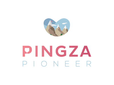 Pingza Pioneer mountains wine beta graphic design identity branding logo design illustration brand concept icon vector logo