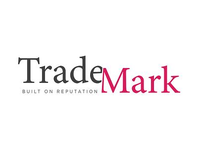 TradeMark Logo Design typography graphic design identity branding logo design brand concept icon vector logo