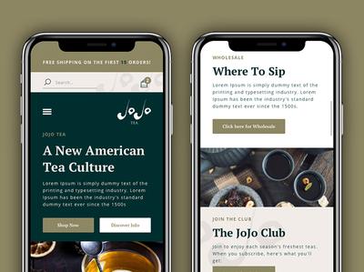 Jojo Tea Mobile Shopify Ecommerce