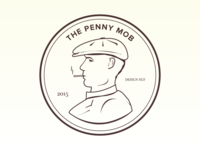 Penny Mob V2 illustration design lines penny mob