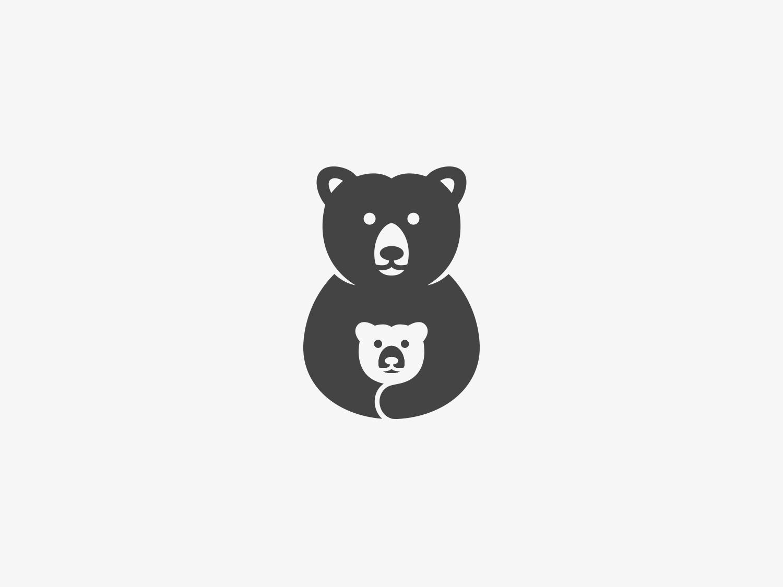 Lovely Bear design negative negative space cute illustration bear illustration bear logo logo bearcub bear
