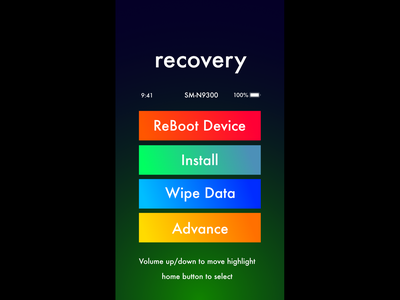 Android recovery mode affinity designer android recovery ux ui