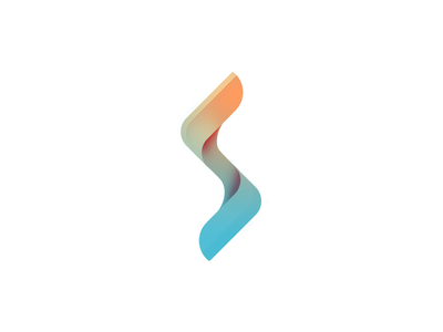 Hot to Cold brand logo red pastel blue branding glyph mark s