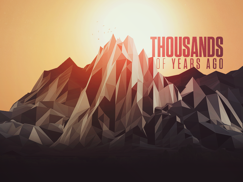 But that... was a long time ago. mountains abstract gradient low poly cinema 4d typography lowpoly