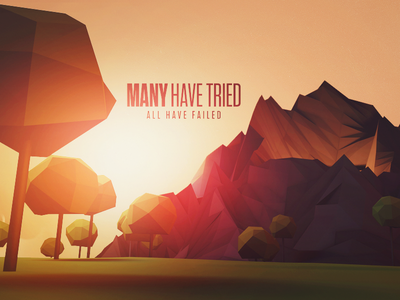 You've Failed Me typography abstract cinema 4d mountains