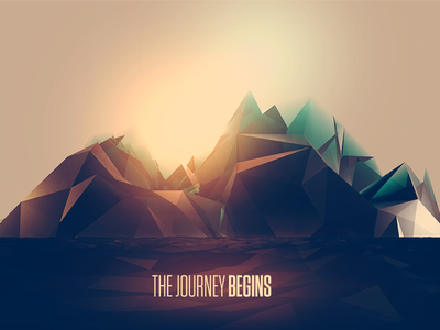 As a new villain approaches... water abstract mountain glacier journey game cinema 4d
