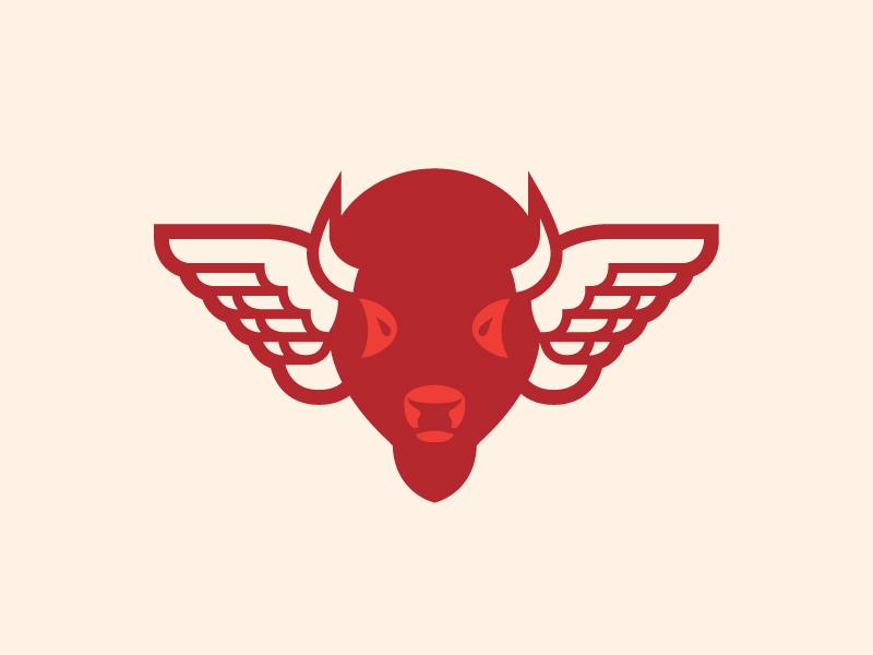 Buffalo 2 vector wings bison buffalo animal illustration logo