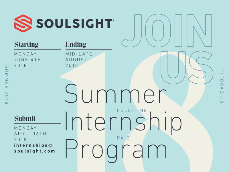 Soulsight Summer Internship grid typography design layout internship invitation