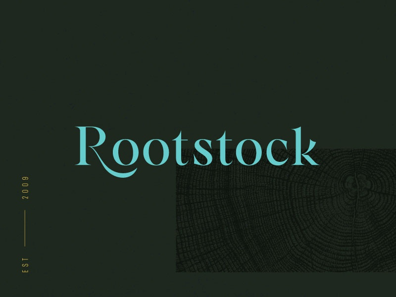 Rootstock color typography type logo