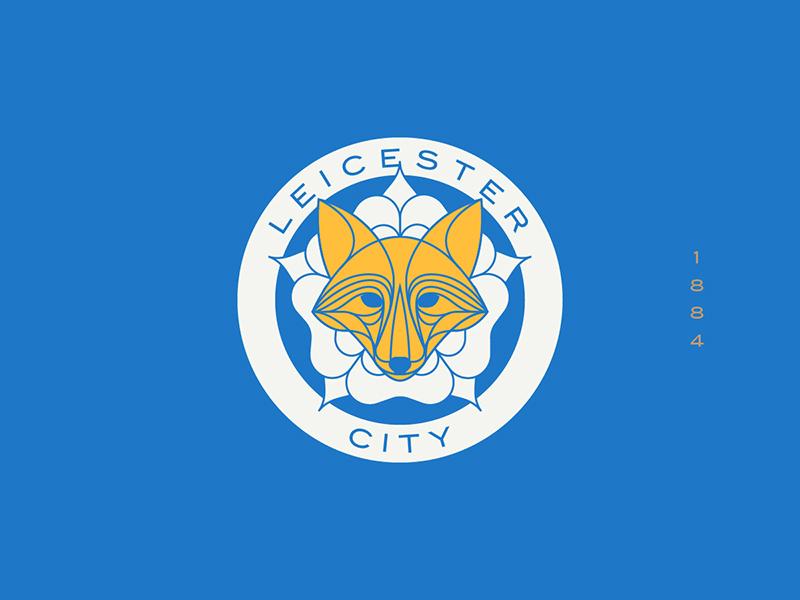 Leicester City fox leicester england sports logo badge crest soccer football