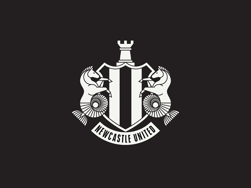 Newcastle United coat of arms magpie seahorse newcastle england sports logo badge crest soccer football