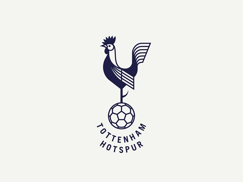 Tottenham Hotspur spurs rooster london england sports logo badge crest soccer football