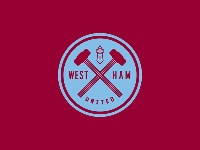 West Ham United hammer london england sports logo badge crest soccer football