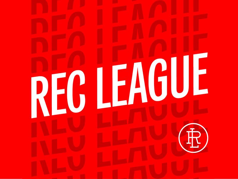 Rec League 2 logo monogram typography type