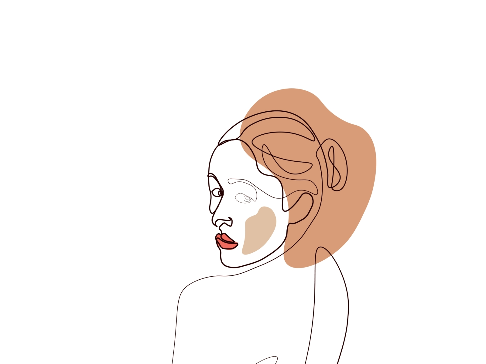 Continuous Line Drawing Of Set Faces And Sexy Body Fashion Con By Momixzaa On Dribbble