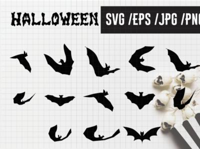 Vampire bat silhouette halloween bats decoration 13 design animal logo illustraion design cartoon artwork art print illustration cute bat vampire halloween