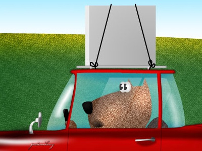 e-harmony dogs 2d car couple after effects motion flash animation motion graphics
