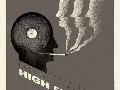 High Fidelity poster illustration high fidelity nmn