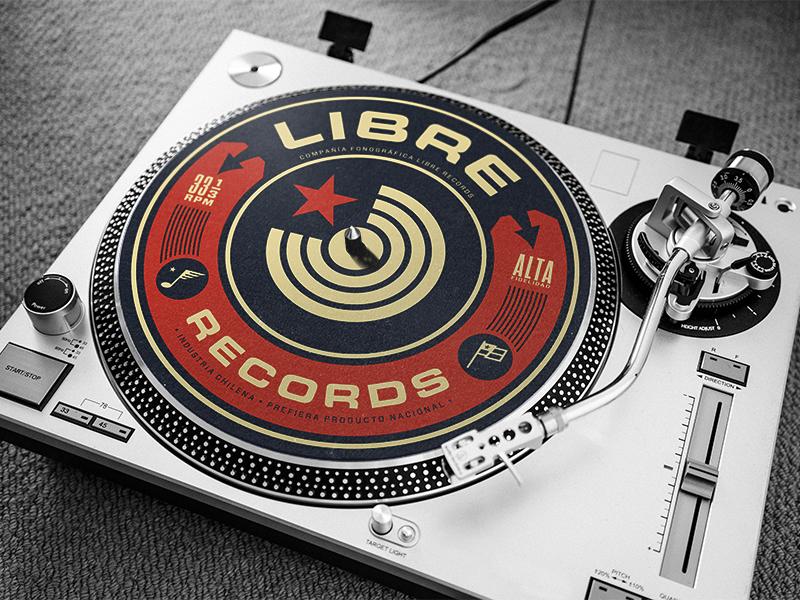 Libre Records vinyl design records music logo branding