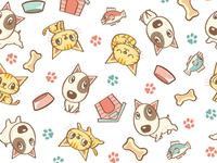 Dog And Cat Seamless Pattern