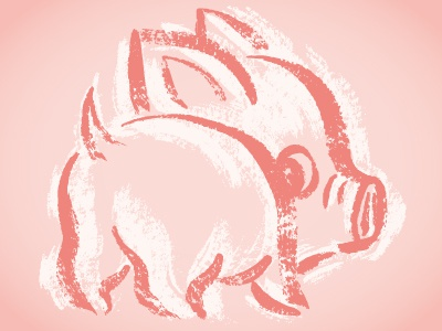 Pig look back