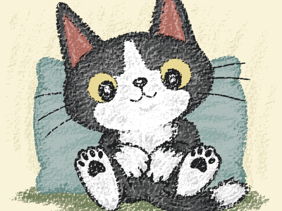 Black kitten is relaxing cat kitten pet animal illustration characters vector