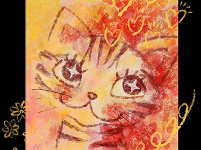 Funny American Shorthair doodle illustration pets kitty kitten animals cats