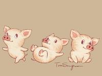 Cute Pigs L