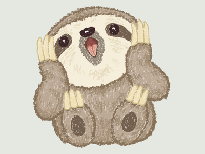 Surprised Sloth sloth pet animal illustration characters vector