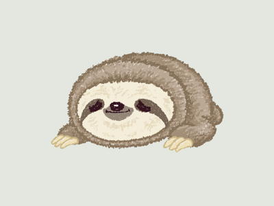Sloth lying down sloth pet illustration animal characters vector