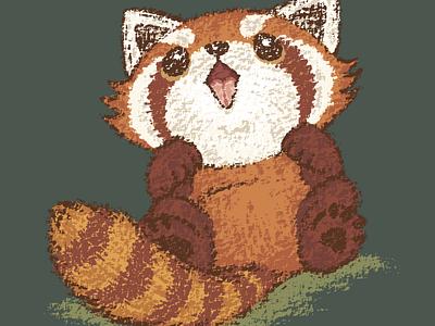 Red panda red panda panda pet animal illustration characters vector