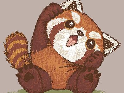 Cute Red panda red panda panda pet animal illustration characters vector