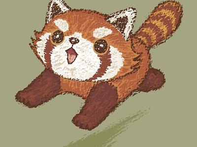 Red panda running panda red panda character pet animal illustration characters vector